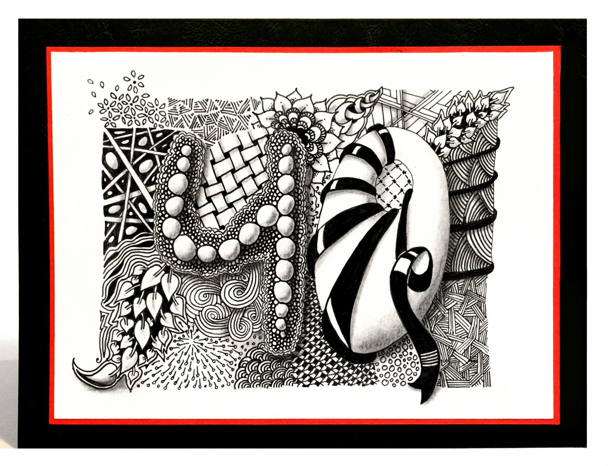 Zentangle Geburtstagskarte Bunte Galerie
