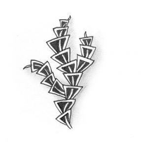 Zentangle Muster Roxy