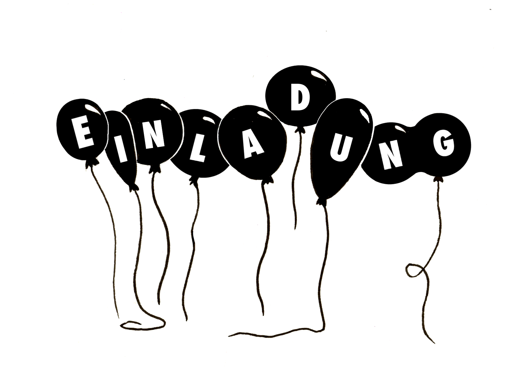 lutballon mit bild und schrift