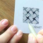 Zentangle® Zeitraffer Video vom Muster Wisket