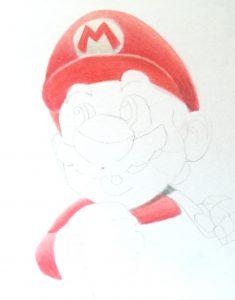 Marios rote Kleidung ist für's erste fertig