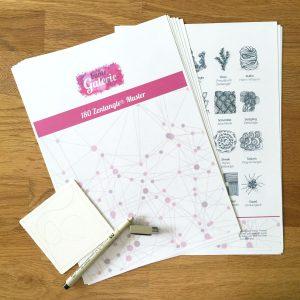 PDF mit 180 verschiedenen Zentangle Mustern