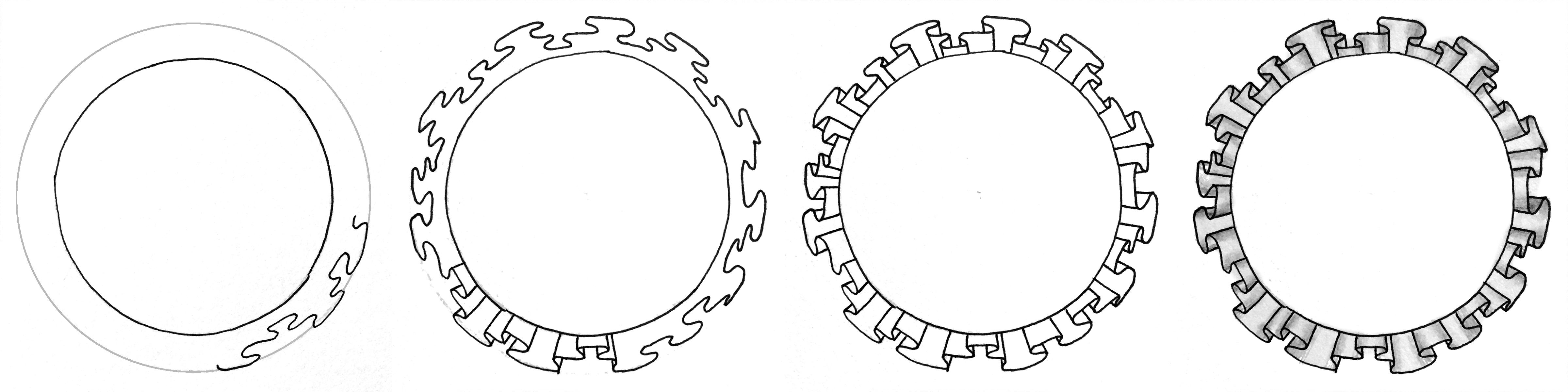 Mit Zentangle Mustern Einen Modernen Kranz Zeichnen Bunte Galerie