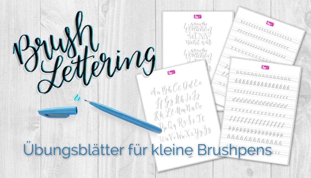 brush lettering lernen. Black Bedroom Furniture Sets. Home Design Ideas