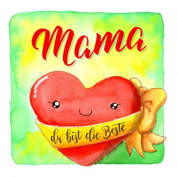 Muttertags-Herz Mama du bist die Beste