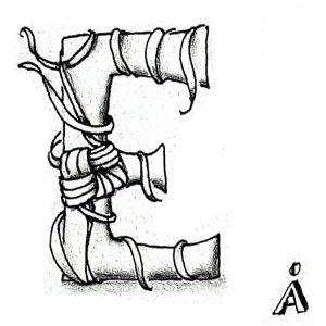 Tangle-Monogramm E - Anya Ipsen (Sutsche Tangeleien)