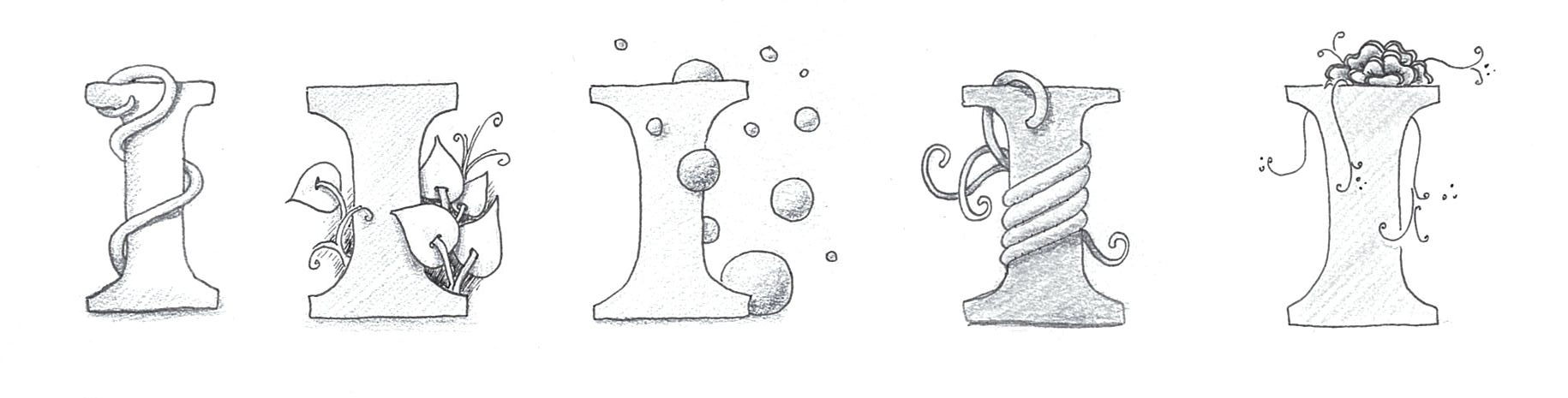 Zentangle® inspirierte Monogramme | Bunte Galerie