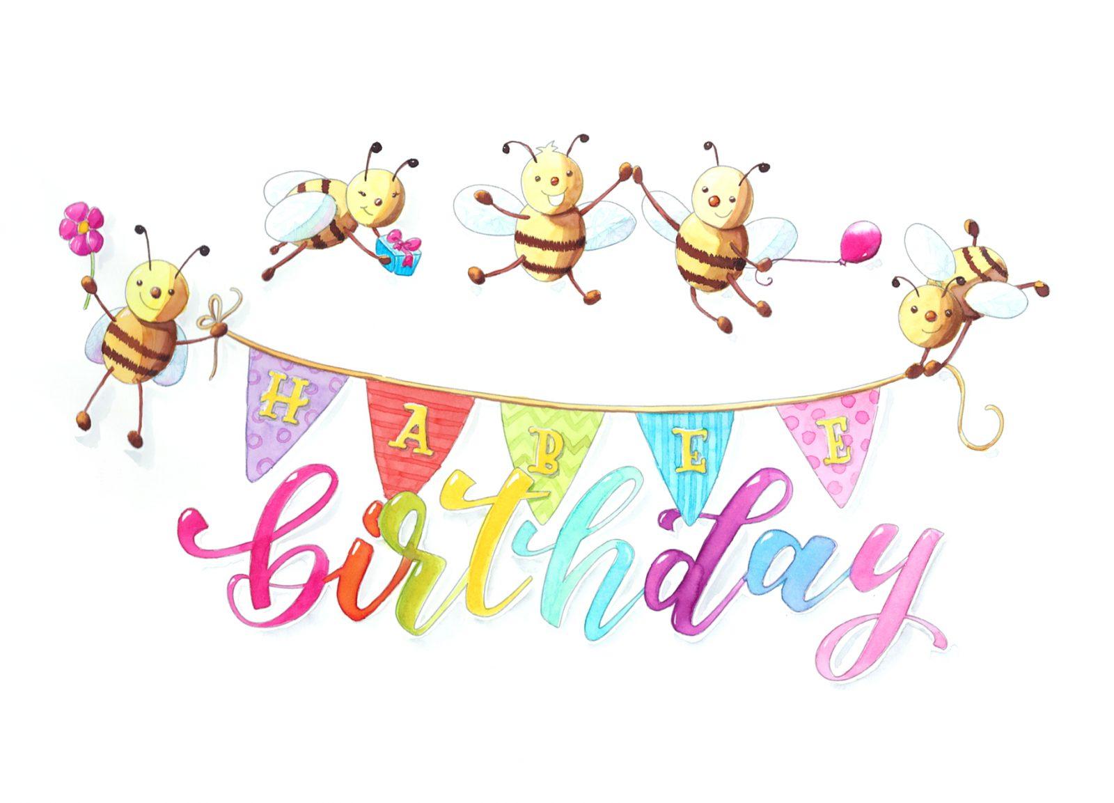 Freebie Printable: kostenlose Geburtstagskarte zum Ausmalen