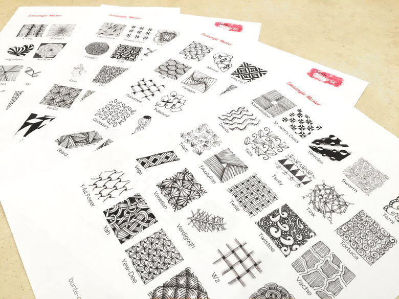 99 Zentangle Muster