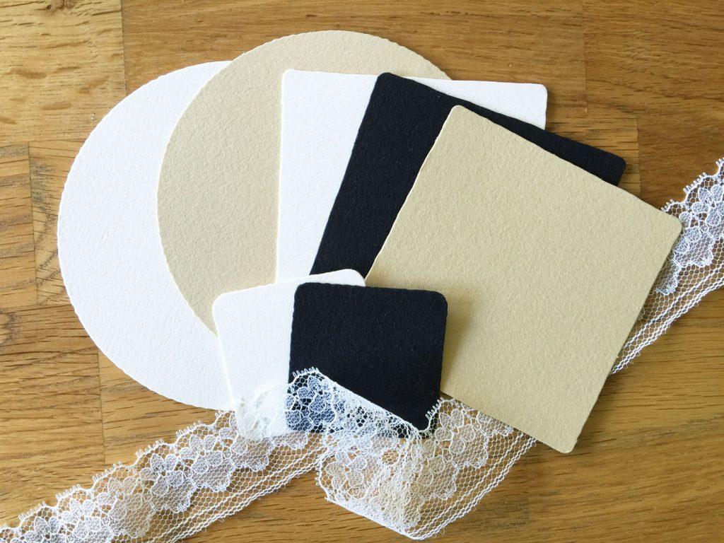 Zentangle® Tiles in verschiedenen Formen und Farben