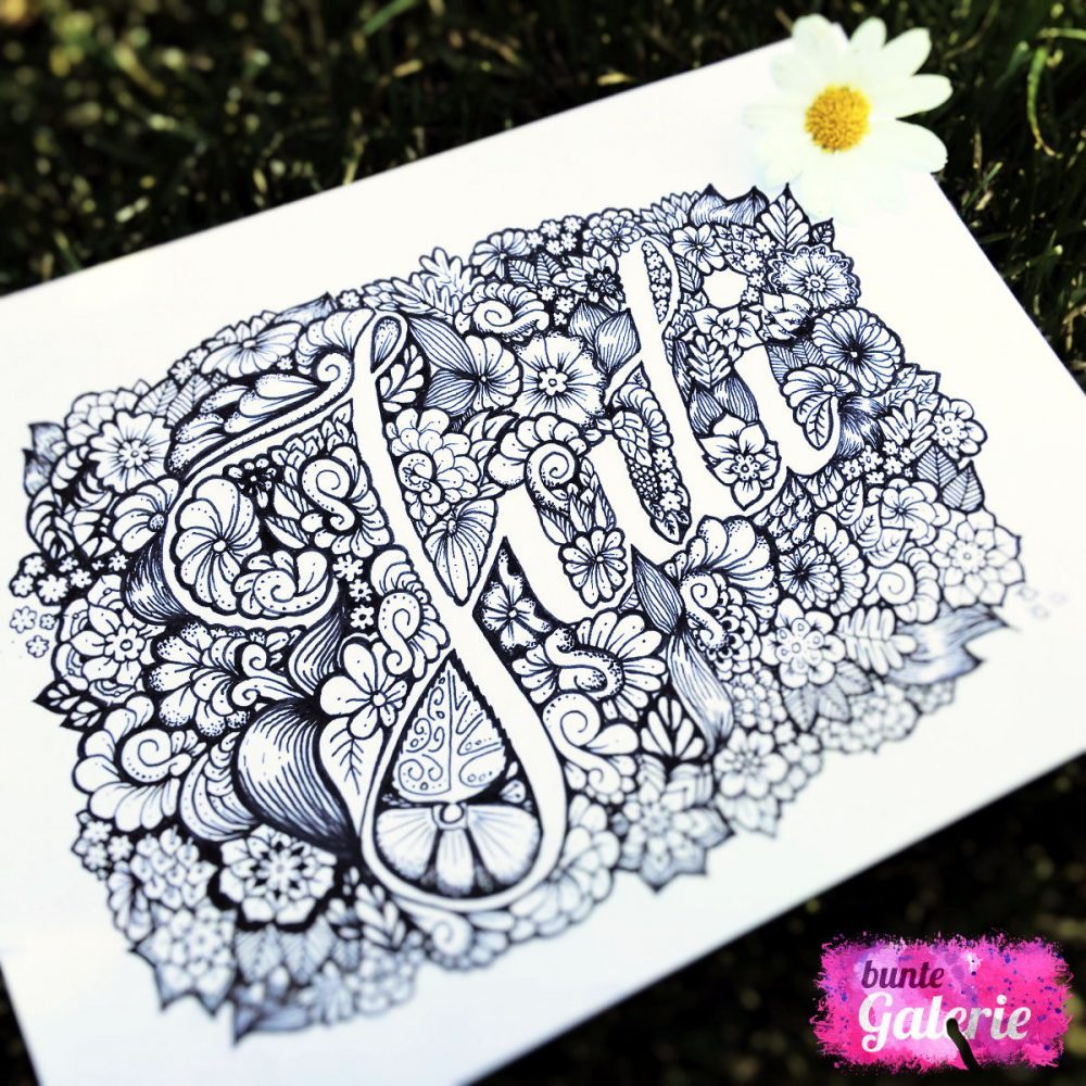 Juli Hand-Lettering Doodle