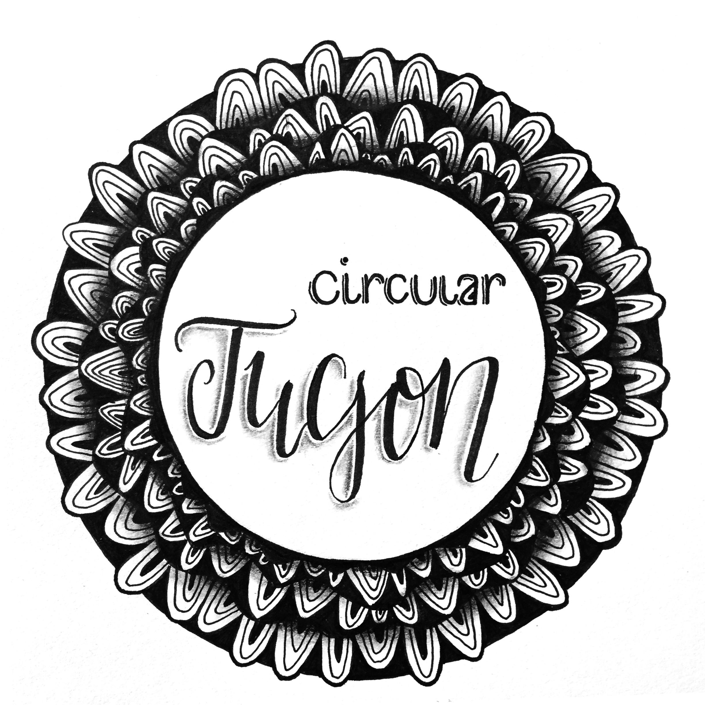 Kranz aus dem Zentangle Muster Tucson