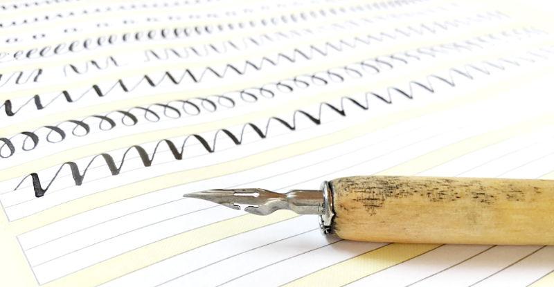 Kalligrafie Übungen