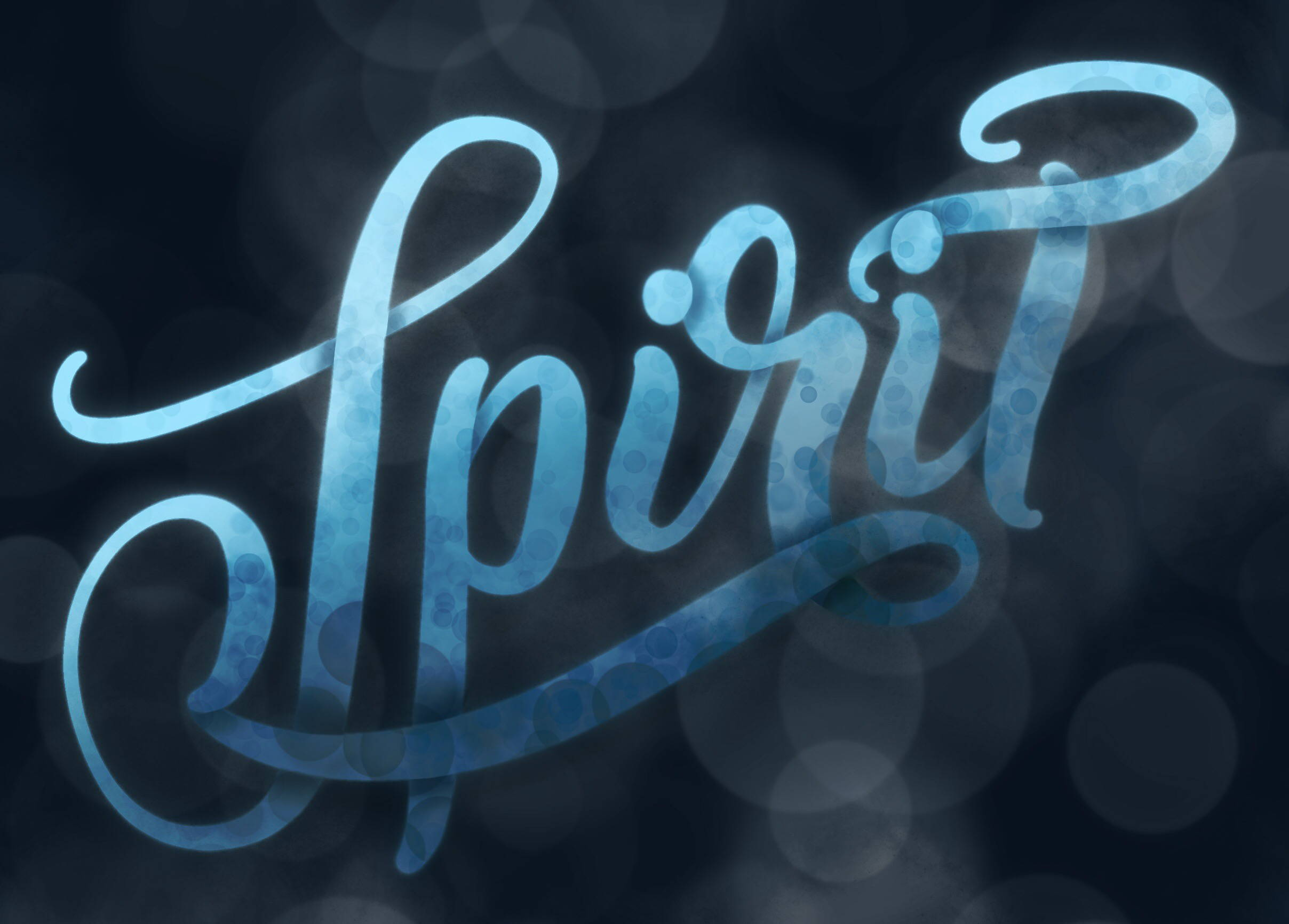 Spirit iPad Lettering
