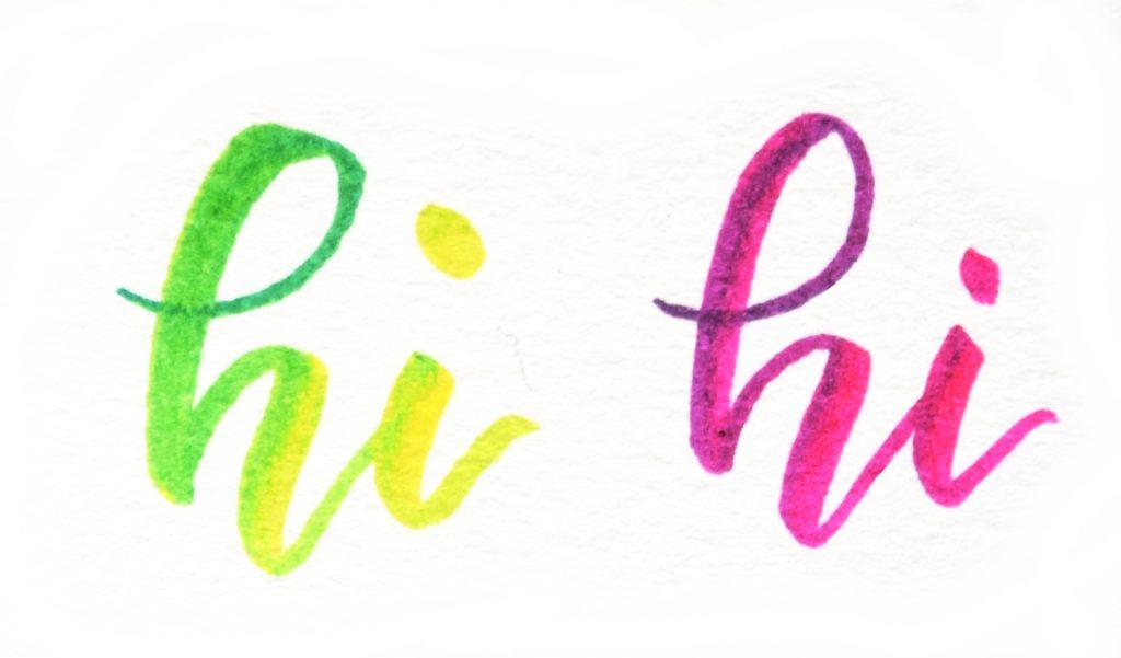 Farbverlauf Mischen is possible