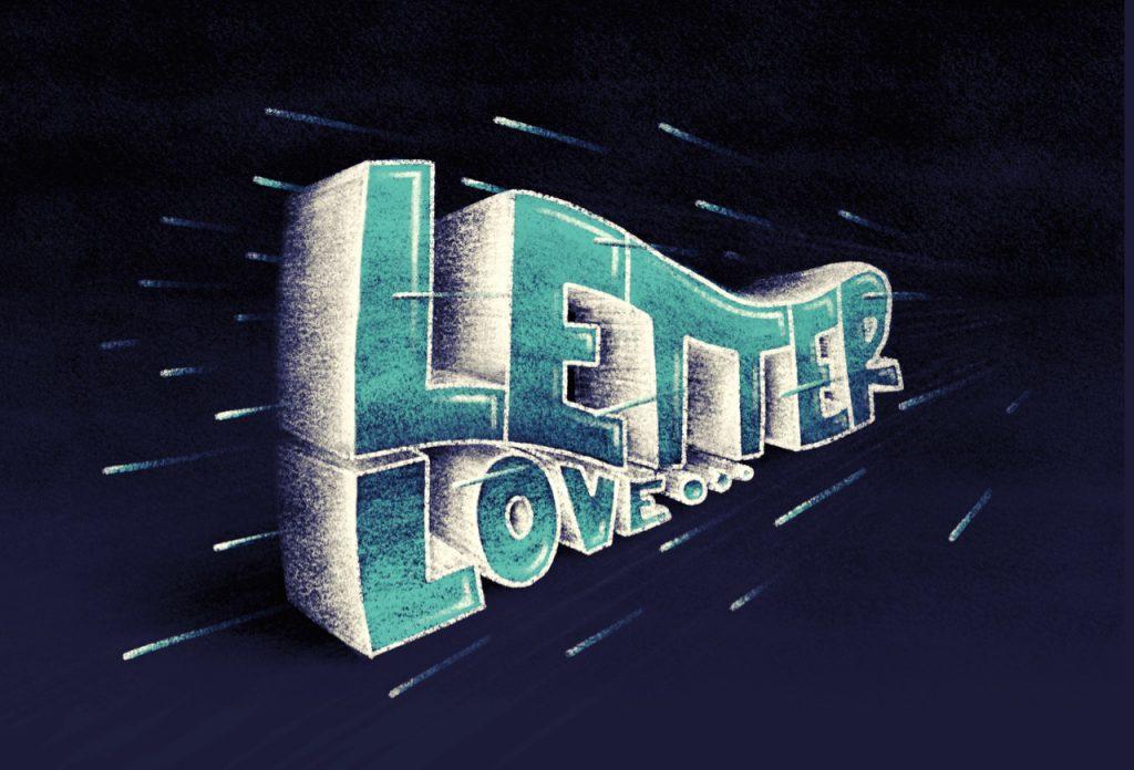 Letter Love - iPad Procreate Lettering von Ludmila Blum, Bunte Galerie