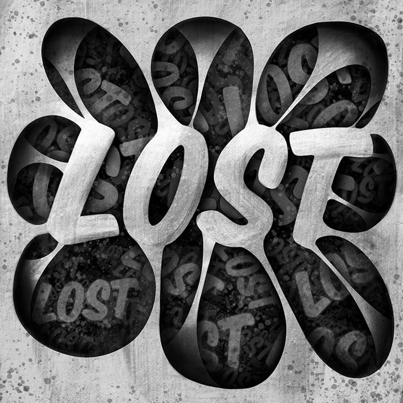 Lost Procreate Lettering