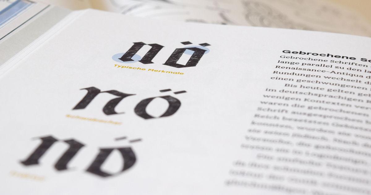 Handbuch Handlettering - Gebrochene Schrift