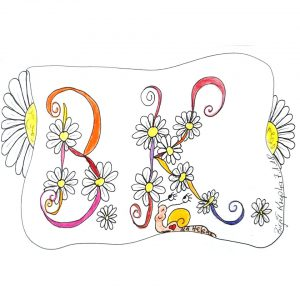 Tangle Monogramm BK - Birgit Krupka