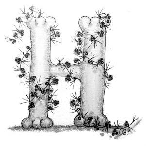 Tangle-Monogramm H - Cornelia Ruthke