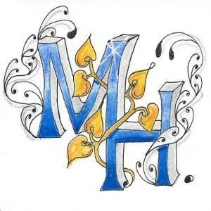 Tangle-Monogramm MH - Martina Hentschel