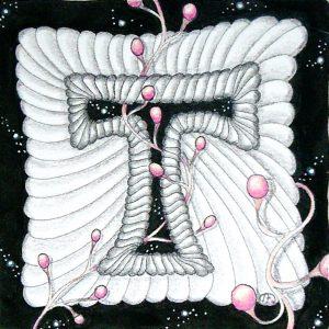 Tangle Monogramm T - Bettina Brüwer (TinasFarbtupfer)