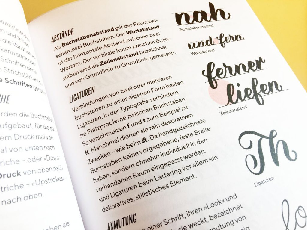 Campe Brushlettering Praxisbuch Abstände