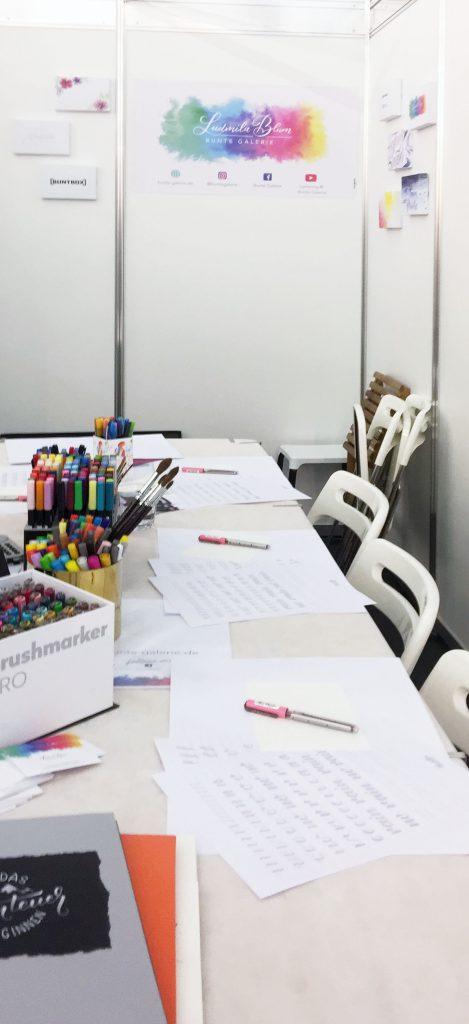 Workshop Tisch creativmesse 2019
