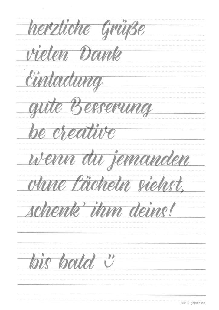 Hand Lettering Kalligraphie Alphabet Vorlagen 3