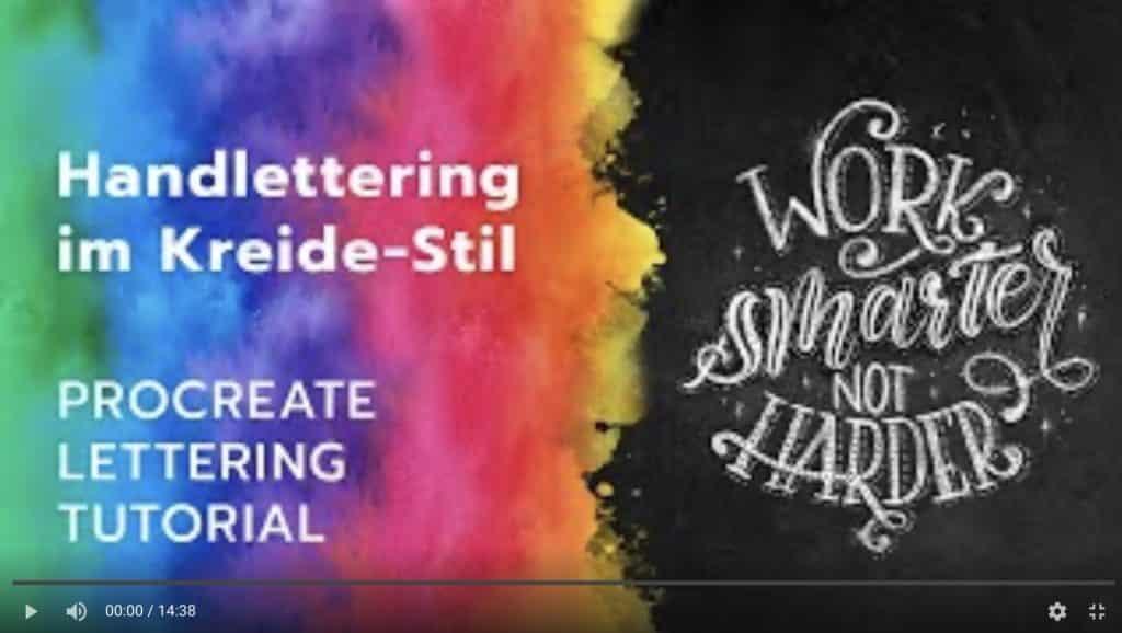 Procreate Lettering Tutorial: Kreidelettering