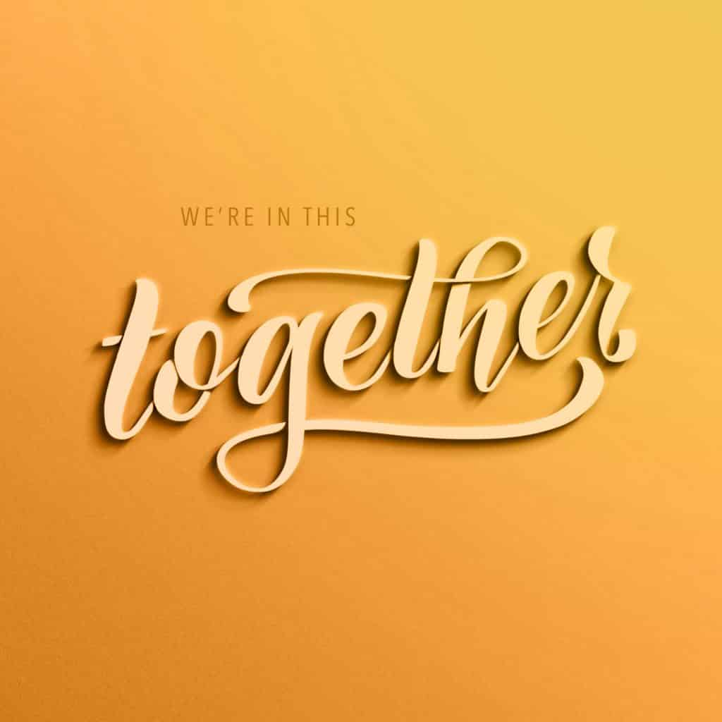 We're in this together - Procreate Lettering