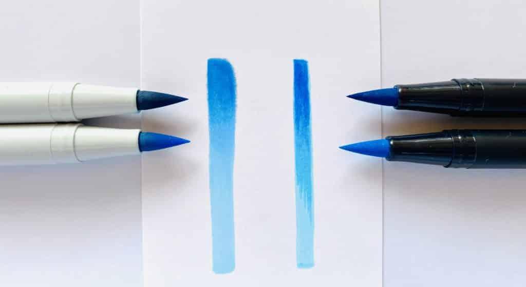 Tombow Blending mit alkoholbasierten vs wasserbasierten Stiften