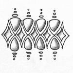 Zentangle Muster Ingwi