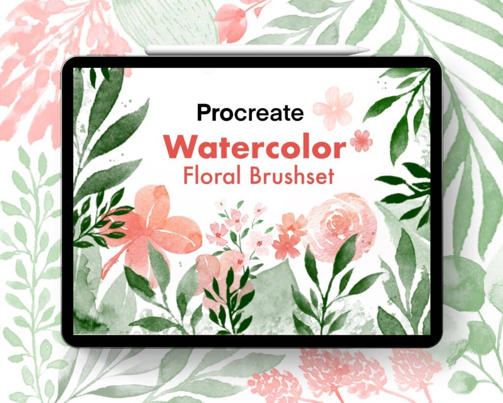 Procreate Brushset Floral Watercolor