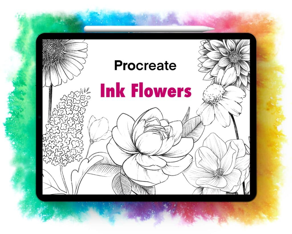 Ink Flowers Procreate Brushset